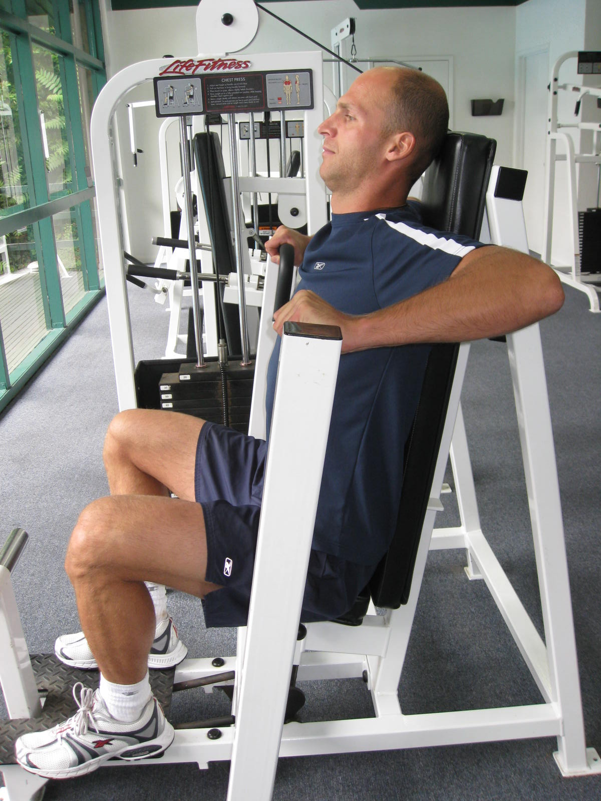 all body resistance workout - chest press