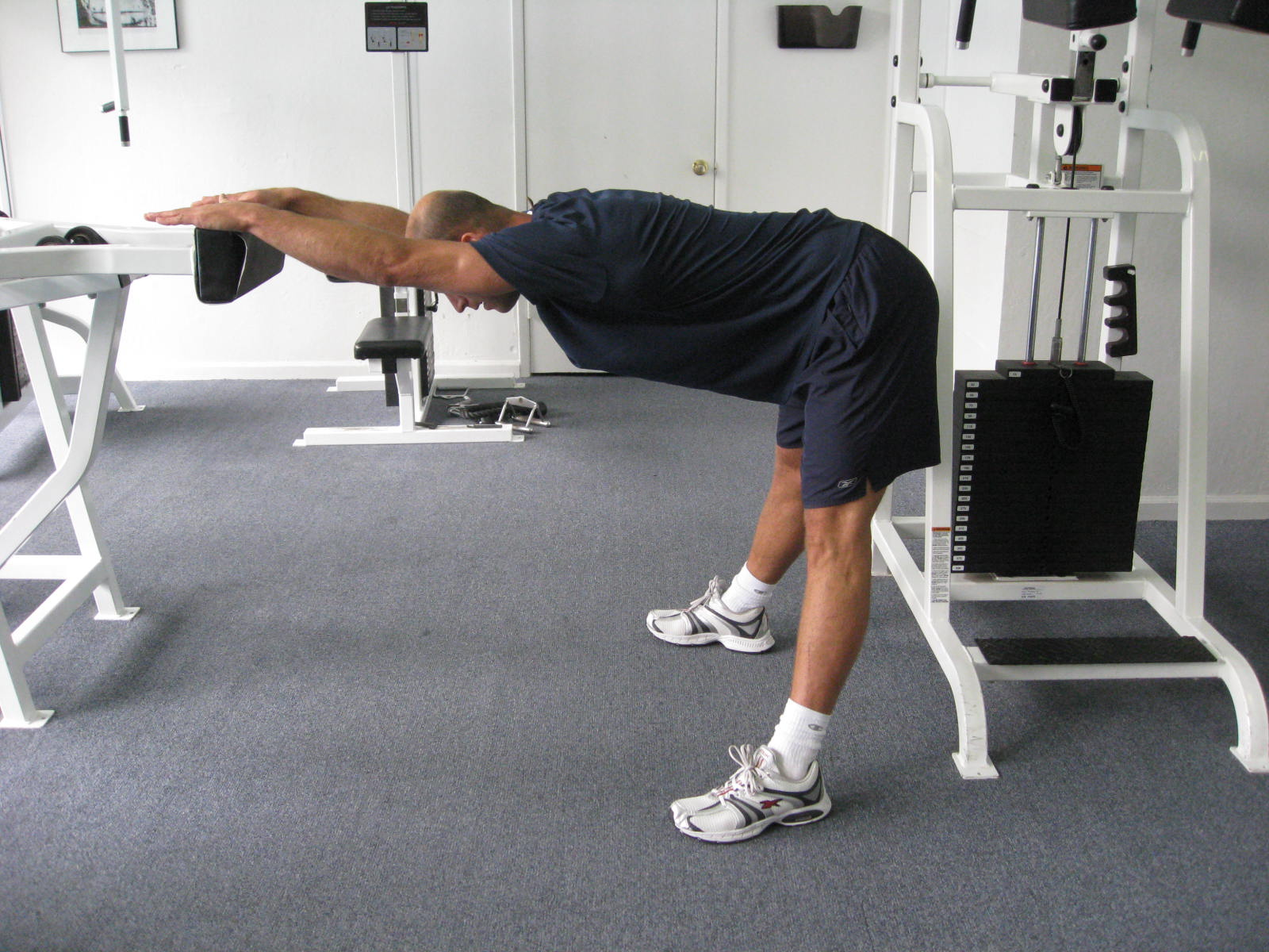 all body resistance workout - back stretch