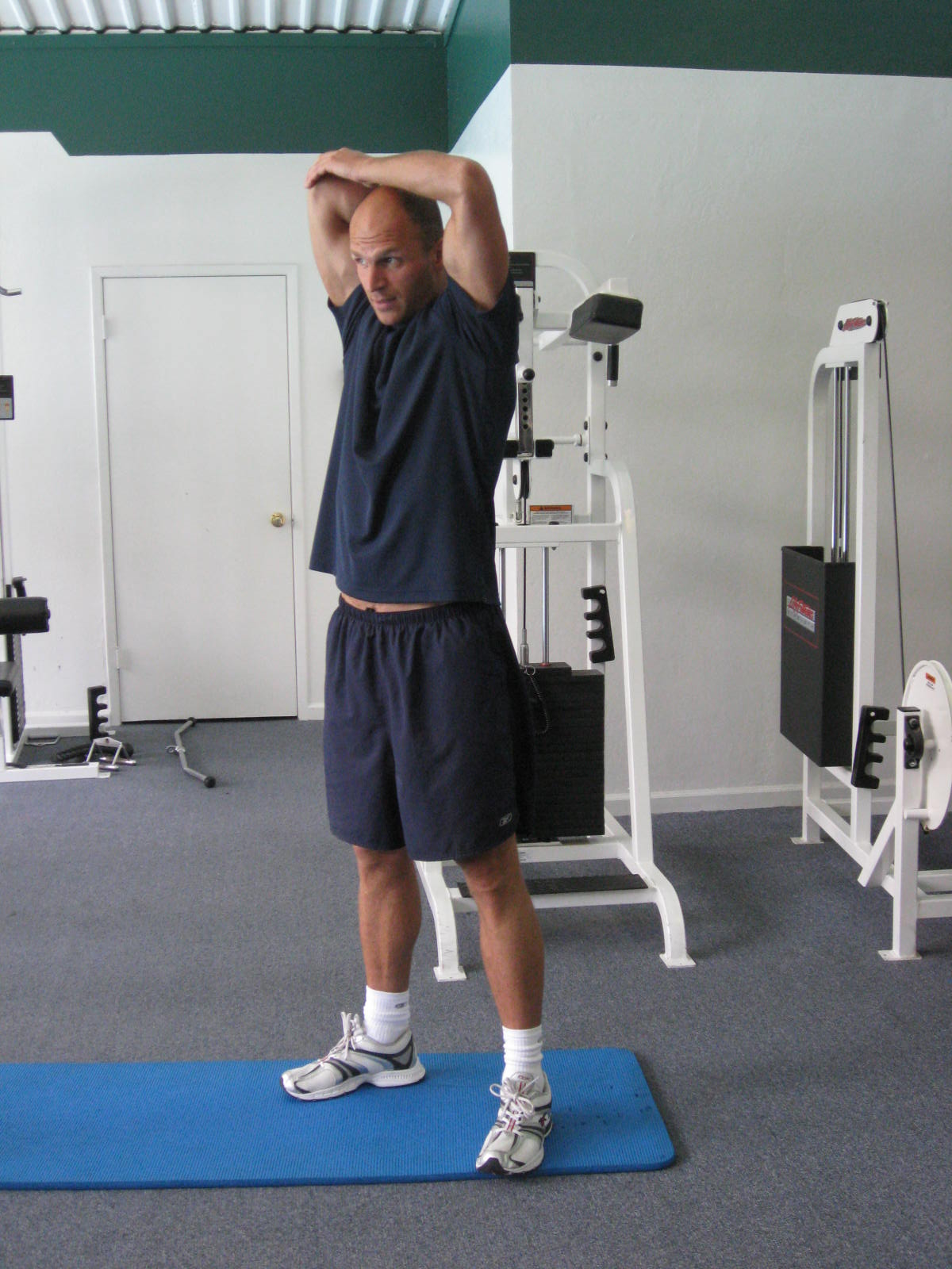 all body resistance workout - triceps stretch