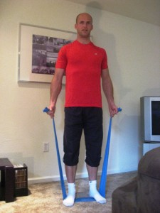 Resistance band strength workout for Zlatka